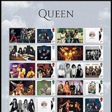 Sellos: GRAN BRETAÑA 2020 GIGANTES DE LA MÚSICA: QUEEN ALBUM PLIEGO SMILER SG F4377-84. Lote 210416816