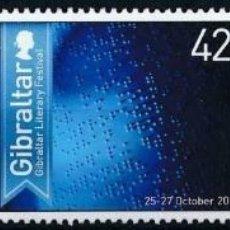 Sellos: GIBRALTAR 2013 IVERT 1543/5 *** FESTIVAL INTERNACIONAL LITERARIO. Lote 210553861