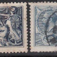 Sellos: GRAN BRETAÑA, 1912-22 YVERT Nº 155, 155A, COLORES AZUL E ÍNDIGO. Lote 212122542
