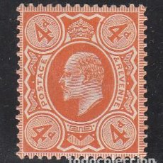 Sellos: GRAN BRETAÑA, 1909-10 YVERT Nº 122 /*/, REY EDUARDO VII,. Lote 212124396