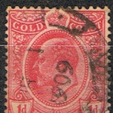 Timbres: GOLD COAST . COLONIA INGLESA // YVERT 67 // 1909 ... USADO. Lote 212513623