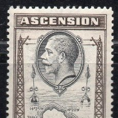 Sellos: ASCENSION/1934/MNH/SC#97-98/MAP OF ASENSION / REY GEORGE V. Lote 213387843