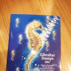 Sellos: CARPETA SELLOS GIBRALTAR AÑO 2001. Lote 214422556