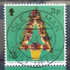 Sellos: ISLA DE MAN 2001 NAVIDAD SELLO USADO. Lote 227109935