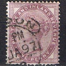 Sellos: INGLATERRA 1881-1891 POSTAGE AND INLAND REVENUE REINA VICTORIA - SELLOS ANTIGUOS CLASICOS. Lote 218131735