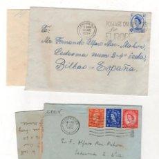 Sellos: LOTE DE 2 SOBRES CIRCULADOS LONDRES Y GLOUCESTER. AÑO 1954. Lote 218393317