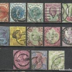 Sellos: R315-LOTE SELLOS CLASICOS GRAN BRETAÑA 1887 VICTORIA 91/103 VALOR 170,00€. Lote 218467582
