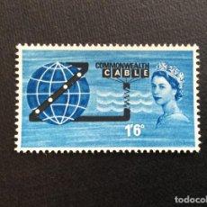 Sellos: GRAN BRETAÑA Nº YVERT 381*** AÑO 1963. INAUGURACION CABLE TRANSOCEANICO COMPAC. Lote 218749450