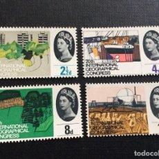 Sellos: GRAN BRETAÑA Nº YVERT 387/0*** AÑO 1964. 20º CONGRESO INTERNACIONAL DE GEOGRAFIA. Lote 218749485