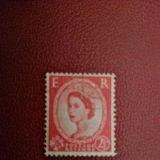 Selos: GRAN BRETAÑA - VALOR FACIAL 2 1/2 D - REINA ISABEL II. Lote 219449640