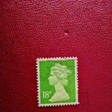 Selos: GRAN BRETAÑA - VALOR FACIAL 18 P - REINA ISABEL II. Lote 219473691