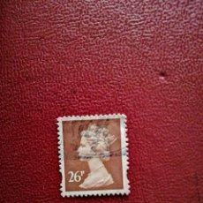 Selos: GRAN BRETAÑA - VALOR FACIAL 26 P - REINA ISABEL II. Lote 219510295