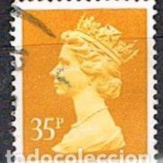 Sellos: GRAN BRETAÑA IVERT Nº 1566, LA REINA ISABEL II, USADO. Lote 221108315
