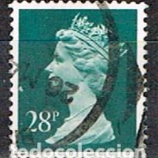Sellos: GRAN BRETAÑA IVERT Nº 1564, LA REINA ISABEL II, USADO. Lote 221108530