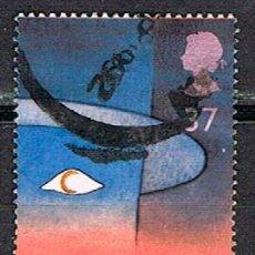 Sellos: GRAN BRETAÑA IVERT Nº 1546, EUROPA 1991, EUROPA Y EL ESPACIO, OJO CON LUNA., USADO. Lote 221109717