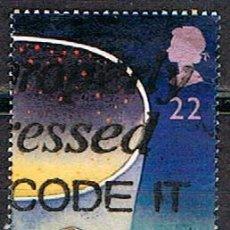Sellos: GRAN BRETAÑA IVERT Nº 1544, EUROPA 1991, EUROPA Y EL ESPACIO, ESTRELLAS, USADO. Lote 221109837