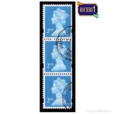 Sellos: GRAN BRETAÑA 1993. MICHEL 1214CS. YVERT 1671. REINA ELIZABETH II. USADO. Lote 221705445