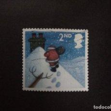 Sellos: GRAN BRETAÑA 2004 NAVIDADES CHRISTMAS:FATHER CHRISTMAS ON SNOWY ROOF S/A 2ND SG 2495YV 2594. Lote 222086637