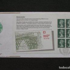 Sellos: GRAN BRETAÑA - SOBRE CONMEMORATIVO DE LOS STAMP BOOKS 1980. Lote 222149220