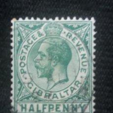 Sellos: GRAN BRETAÑA GIBRALTAR, HALF PENNY, AÑO 1906.. Lote 222597748