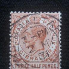 Sellos: GRAN BRETAÑA GIBRALTAR, HALF PENCE, AÑO 1921.. Lote 222598621