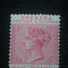 Sellos: GRAN BRETAÑA, GRENADA, 0NE PENNY, REINA VICTORIA, AÑO 1993.. Lote 222599837