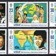 Sellos: [CF-A2006] JERSEY 1996; SERIE L ANIVERSARIO DE LA UNICEF (MNH). Lote 222618936