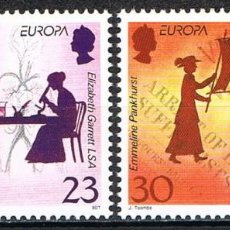 Sellos: [CF-A2078] JERSEY 1996; SERIE EUROPA: MUJERES FAMOSAS (MNH). Lote 222619542