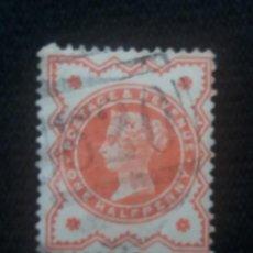 Sellos: GRAN BRETAÑA, ONE HALF PENNY, REINA VICTORIA, AÑO 1887.. Lote 222830331