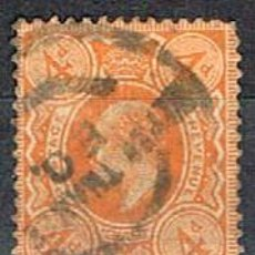 Sellos: GRAN BRETAÑA IVERT Nº 122 (AÑO 1912) EL REY JORGE V, USADO. Lote 222932361