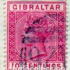 Sellos: EUROPA. GIBRALTAR. REINA VICTORIA 1889.. USADO CON FIJA SELLOS (A2). Lote 224009201