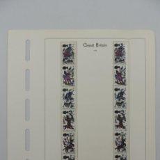 Timbres: HOJA CON SELLOS DE GRAN BRETAÑA – AÑO 1966. Lote 224435150