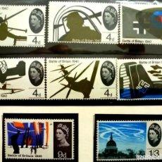 Timbres: GRAN BRETAÑA 1965-FOTO 116 - Nº 407 IVERT, 8 SELLOS ,COMPLETA,NUEVO. Lote 224618138