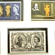 Timbres: GRAN BRETAÑA 1964 -FOTO 108 - Nº 375 IVERT, 5 SELLOS ,COMPLETA,NUEVO. Lote 224618245