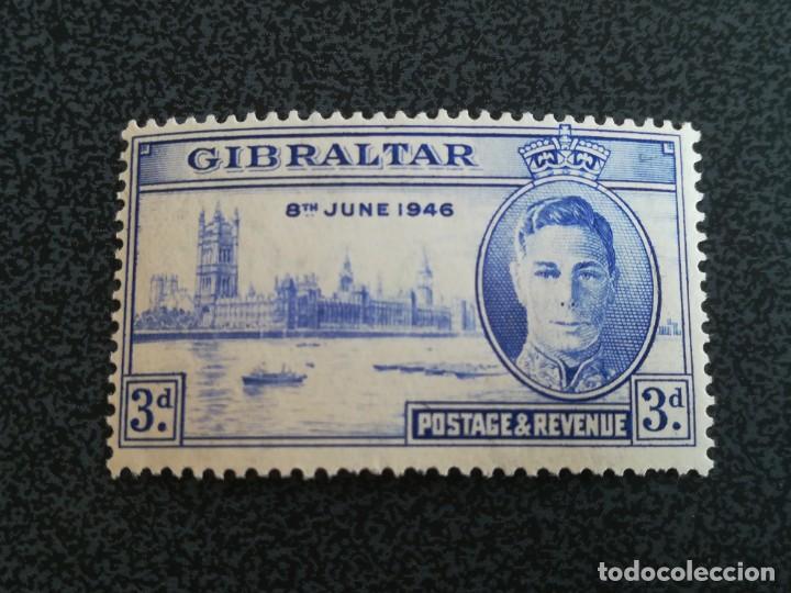 ANTIGUO SELLO GIBRALTAR 1946 BRITÁNICA CON GOMA (Sellos - Extranjero - Europa - Gran Bretaña)