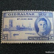 Sellos: ANTIGUO SELLO GIBRALTAR 1946 BRITÁNICA GEORG VI CON GOMA. Lote 225131725