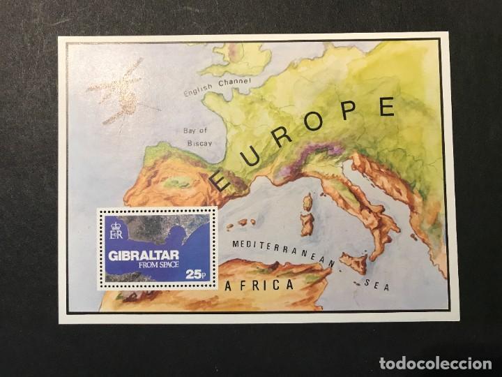 GIBRALTAR HOJITA BLOQUE (Sellos - Extranjero - Europa - Gran Bretaña)