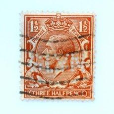 Sellos: SELLO POSTAL GRAN BRETAÑA REINO UNIDO 1912, 1 1/2 D, REY GEORGE V ,PERFORACION GLYM ,USADO. Lote 236767120