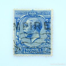 Sellos: SELLO POSTAL GRAN BRETAÑA REINO UNIDO 1912, 2 1/2 D, REY GEORGE V ,USADO. Lote 236768625