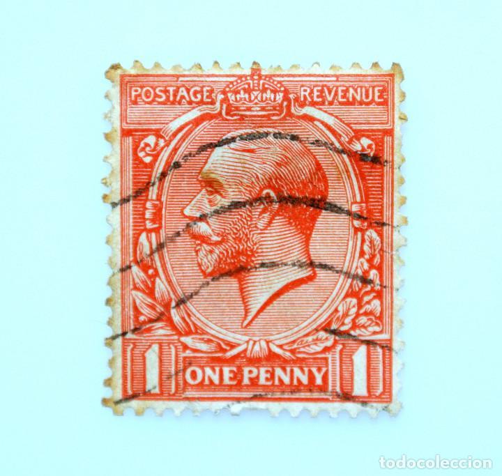 SELLO POSTAL GRAN BRETAÑA REINO UNIDO 1912, 1 D, REY GEORGE V ,USADO (Sellos - Extranjero - Europa - Gran Bretaña)