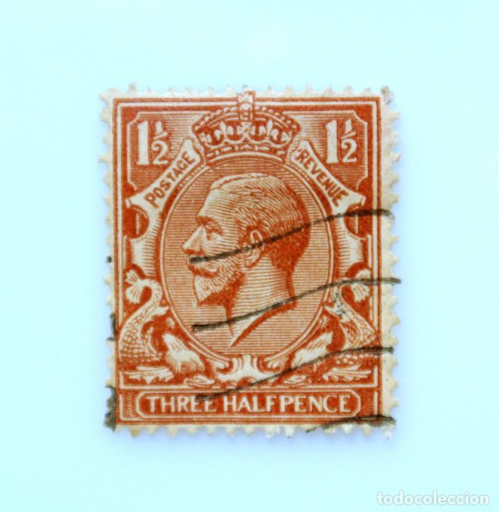 SELLO POSTAL GRAN BRETAÑA REINO UNIDO 1934, 1 1/2 D, REY GEORGE V ,USADO (Sellos - Extranjero - Europa - Gran Bretaña)