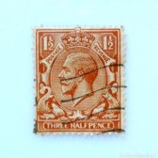 Sellos: SELLO POSTAL GRAN BRETAÑA REINO UNIDO 1934, 1 1/2 D, REY GEORGE V ,USADO. Lote 236773990