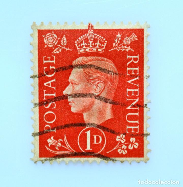 SELLO POSTAL GRAN BRETAÑA REINO UNIDO 1937, 1 D, REY GEORGE VI ,USADO (Sellos - Extranjero - Europa - Gran Bretaña)