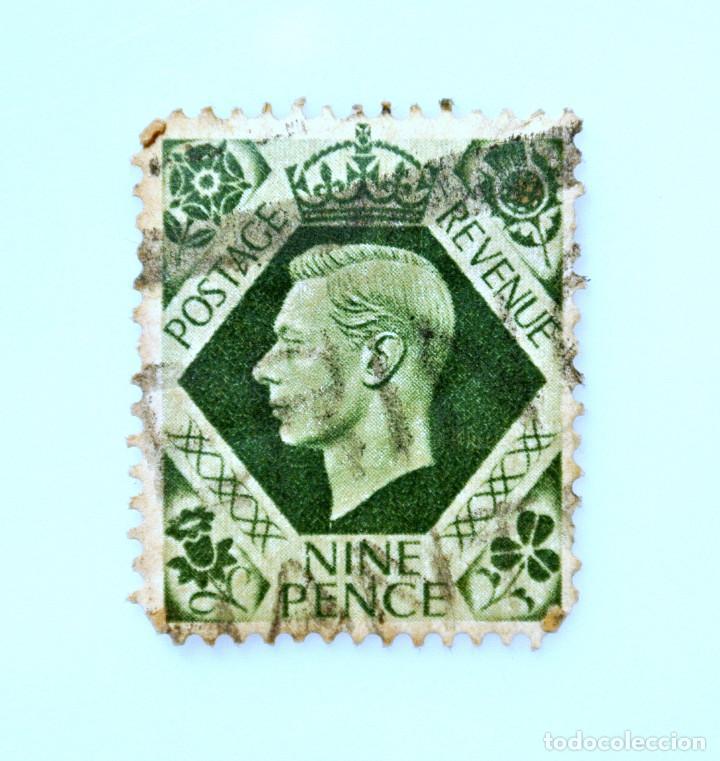 SELLO POSTAL GRAN BRETAÑA REINO UNIDO 1939, 9 D, REY GEORGE VI ,USADO (Sellos - Extranjero - Europa - Gran Bretaña)
