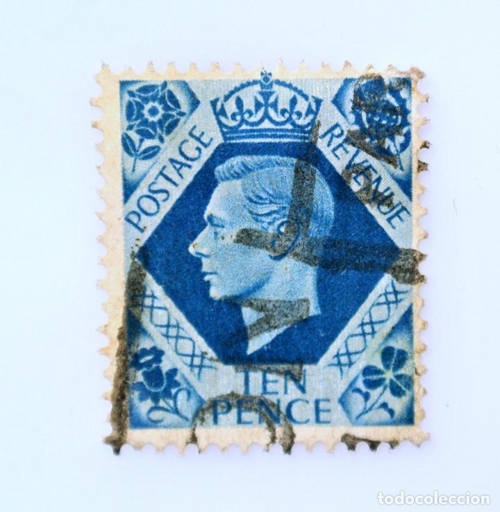 SELLO POSTAL GRAN BRETAÑA REINO UNIDO 1939, 10 D, REY GEORGE VI ,USADO (Sellos - Extranjero - Europa - Gran Bretaña)