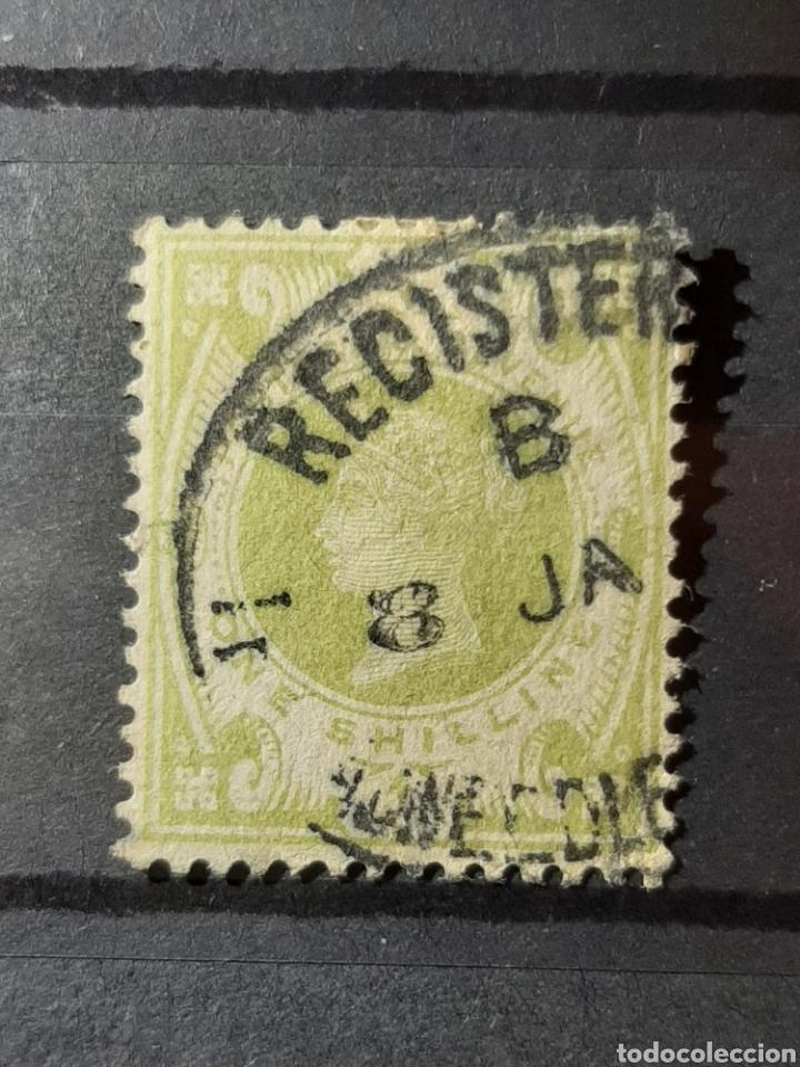 (GRAN BRETAÑA)(1887-1892)(SCOTT#122) REINA VICTORIA 1 SHILLING (Sellos - Extranjero - Europa - Gran Bretaña)