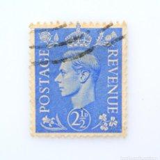 Sellos: SELLO POSTAL GRAN BRETAÑA REINO UNIDO 1941, 2 1/2 D, REY GEORGE VI ,USADO. Lote 236815910
