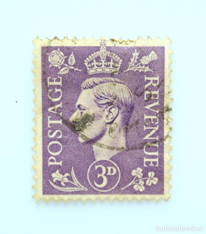 SELLO POSTAL GRAN BRETAÑA REINO UNIDO 1941, 3 D, REY GEORGE VI ,USADO (Sellos - Extranjero - Europa - Gran Bretaña)
