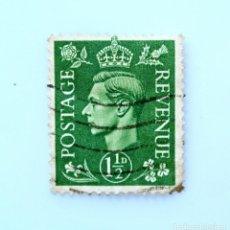 Sellos: SELLO POSTAL GRAN BRETAÑA REINO UNIDO 1937, 1 1/2 D, REY GEORGE VI ,USADO. Lote 236817405
