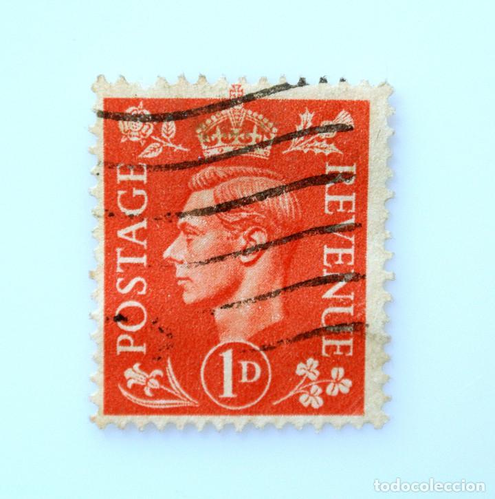 SELLO POSTAL GRAN BRETAÑA REINO UNIDO 1941, 1 D, REY GEORGE VI ,USADO (Sellos - Extranjero - Europa - Gran Bretaña)